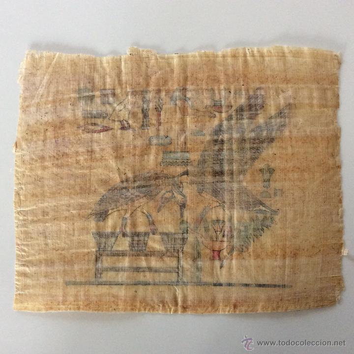 Arte: Dos PAPIROS auténticos y antiguos procedentes de Egipto en perfecto estado de conservación. - Foto 7 - 223309001