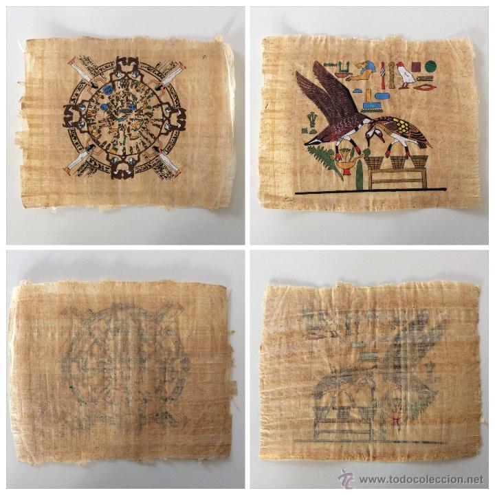 Arte: Dos PAPIROS auténticos y antiguos procedentes de Egipto en perfecto estado de conservación. - Foto 8 - 223309001