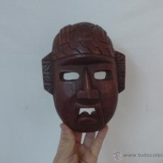 Arte: ANTIGUA MASCARA DE MADERA TALLADA AFRICANA, ORIGINAL, AFRICA. Lote 53885808
