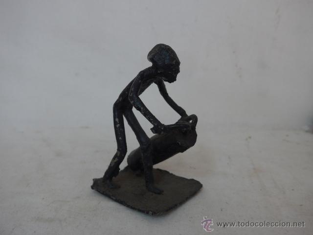 ANTIGUA ESCULTURA DE HIERRO AFRICANA, ORIGINAL, DE AFRICA (Arte - Étnico - África)