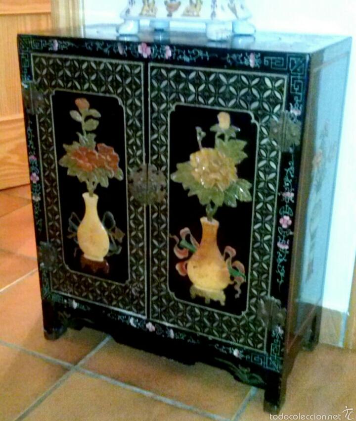 mueble chino. incrustaciones de jade - Comprar Arte Étnico Antiguo ...