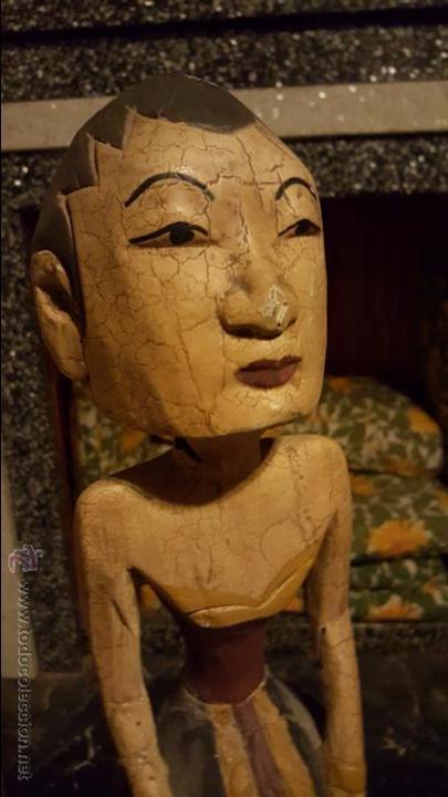 Arte: Pareja de figuras de madera, etnicas 48cm de altura - Foto 6 - 54165198