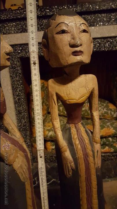 Arte: Pareja de figuras de madera, etnicas 48cm de altura - Foto 9 - 54165198