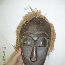 Arte: ANTIGUA MASCARA DE MADERA TALLADA AFRICANA, ORIGINAL, AFRICA. Lote 54408412