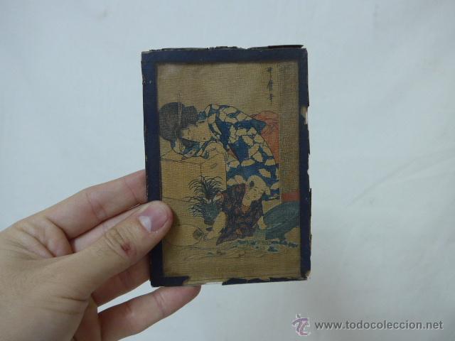 MUY ANTIGUO CUADRO PINTADO ORIGINAL JAPONES, FIRMADO, DE JAPON, A ESTUDIAR... DE PRINCIPIOS S.XX (Arte - Étnico - Asia)