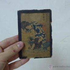Arte: MUY ANTIGUO CUADRO PINTADO ORIGINAL JAPONES, FIRMADO, DE JAPON, A ESTUDIAR... DE PRINCIPIOS S.XX. Lote 54409539