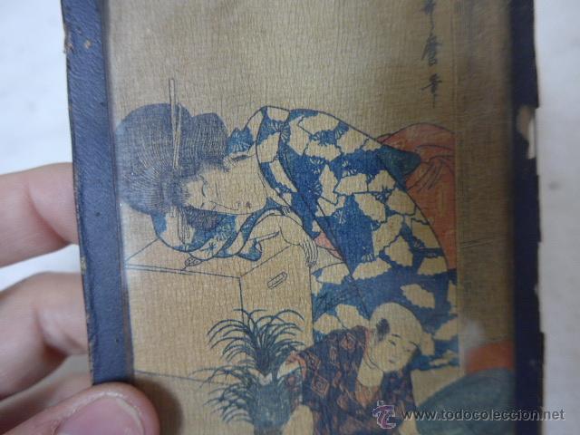 Arte: Muy antiguo cuadro pintado original japones, firmado, de Japon, a estudiar... de principios s.XX - Foto 2 - 54409539
