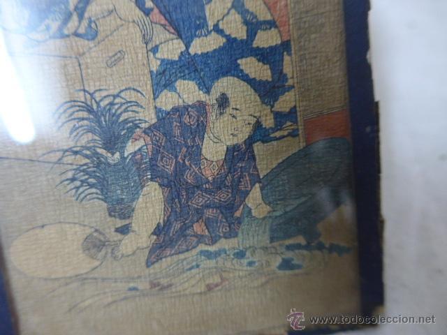 Arte: Muy antiguo cuadro pintado original japones, firmado, de Japon, a estudiar... de principios s.XX - Foto 3 - 54409539