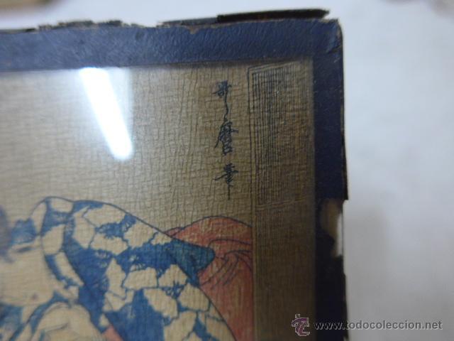 Arte: Muy antiguo cuadro pintado original japones, firmado, de Japon, a estudiar... de principios s.XX - Foto 4 - 54409539
