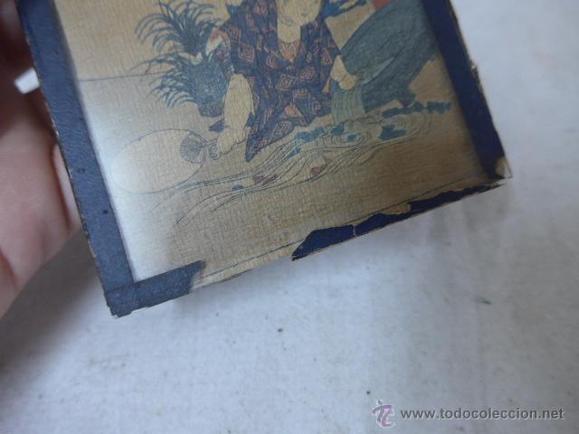 Arte: Muy antiguo cuadro pintado original japones, firmado, de Japon, a estudiar... de principios s.XX - Foto 5 - 54409539