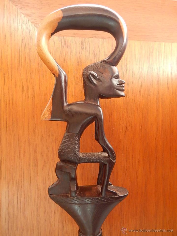 BASTÓN AFRICANO DE ÉBANO (Arte - Étnico - África)