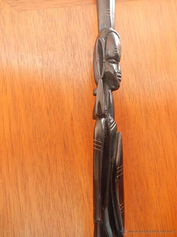 Arte: Bastón africano de ébano - Foto 7 - 54568130