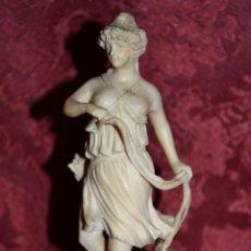Arte: S. XVIII-XIX DE MUSEO,DIANA CAZADORA FINAMENTE TALLADA EN MARFIL CENTROEUROPEO. Lote 54749612