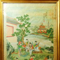 Arte: A3-065. ESCENA DE LA CORTE IMPERIAL CHINA. PINTURA SOBRE PAPEL. CHINA. PRINCIPIO S. XX.. Lote 61810946