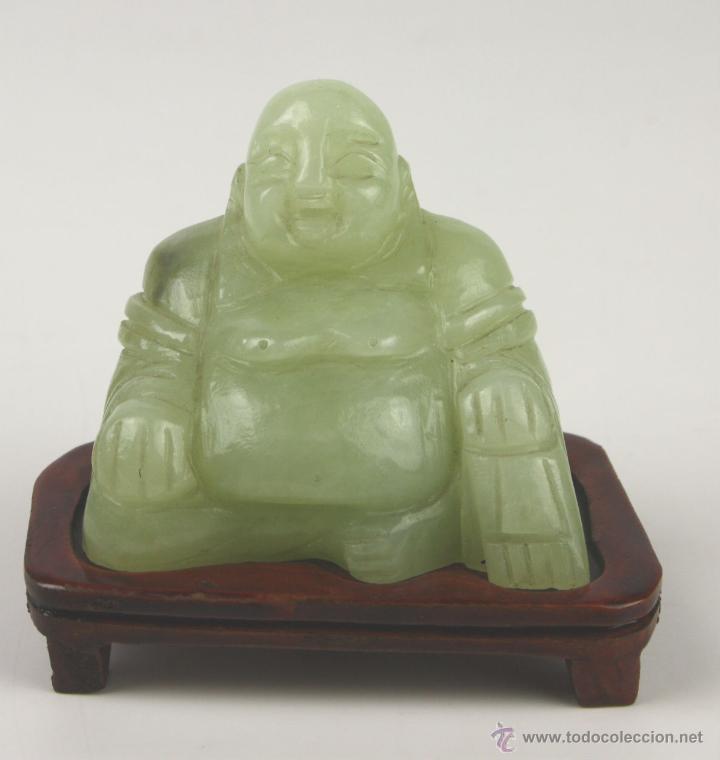 BUDA. JADE TALLADO. CHINA. SIGLO XX (Arte - Étnico - Asia)