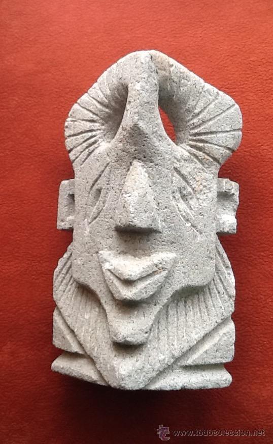 ESTATUA DE PIEDRA.TOBA LIPARITA. NORTE DE CHILE. AÑOS 70. ENVIO INCLUIDO EN EL PRECIO. (Arte - Étnico - América)