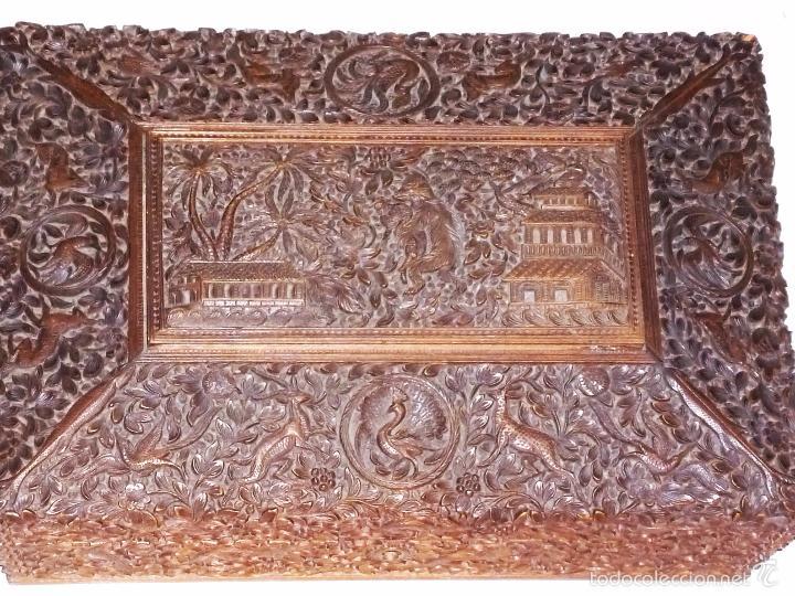 Arte: Caja tallada representando la caza del oso - Foto 3 - 55227828