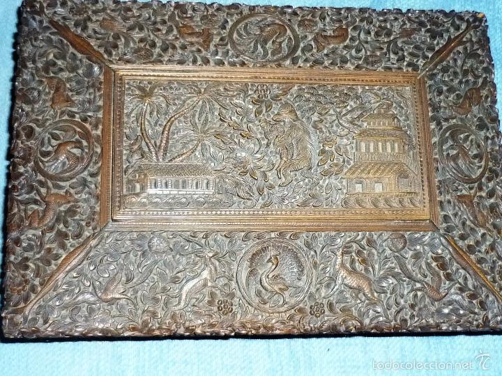 Arte: Caja tallada representando la caza del oso - Foto 4 - 55227828