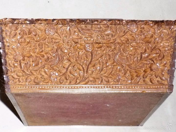 Arte: Caja tallada representando la caza del oso - Foto 12 - 55227828