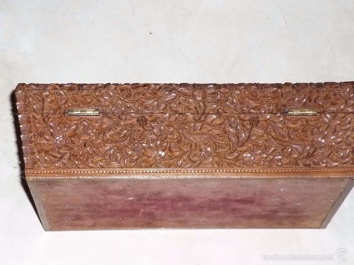 Arte: Caja tallada representando la caza del oso - Foto 14 - 55227828