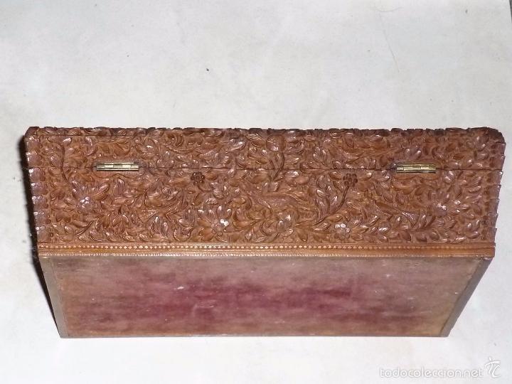Arte: Caja tallada representando la caza del oso - Foto 15 - 55227828