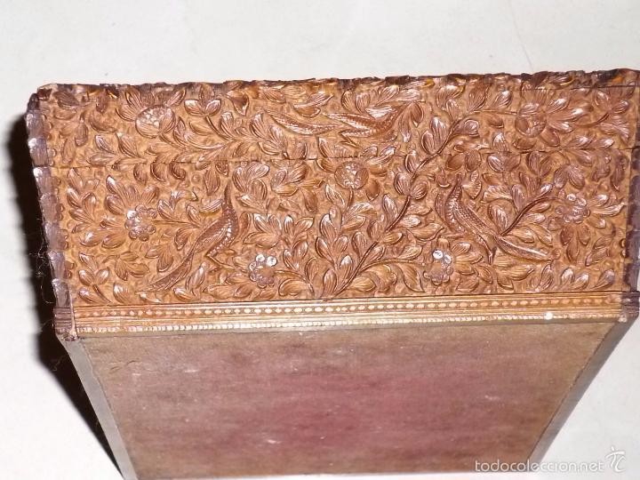 Arte: Caja tallada representando la caza del oso - Foto 19 - 55227828
