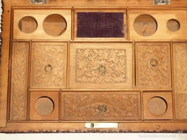 Arte: Caja tallada representando la caza del oso - Foto 20 - 55227828