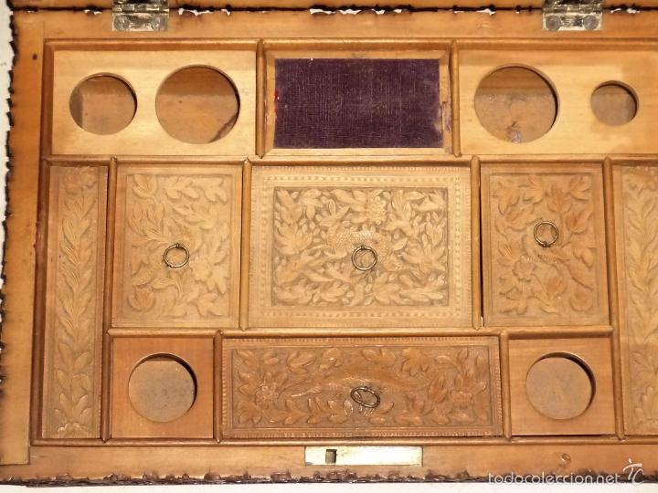 Arte: Caja tallada representando la caza del oso - Foto 21 - 55227828