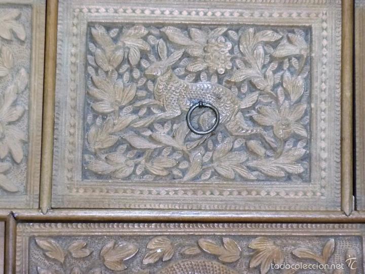Arte: Caja tallada representando la caza del oso - Foto 23 - 55227828