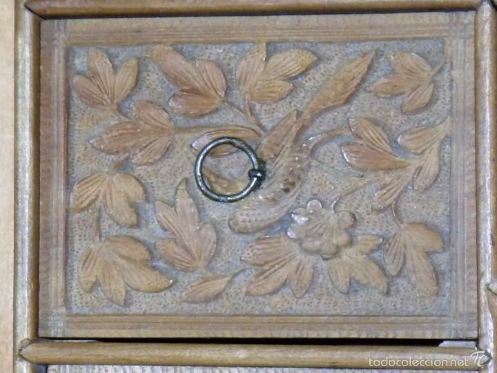 Arte: Caja tallada representando la caza del oso - Foto 26 - 55227828
