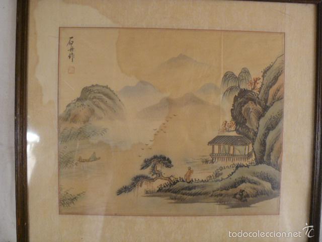ACUARELA CHINA SOBRE PAPEL DE ARROZ (Arte - Étnico - Asia)