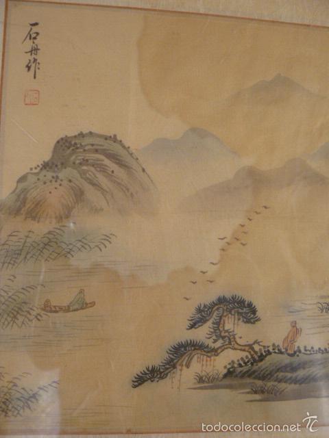 Arte: ACUARELA CHINA SOBRE PAPEL DE ARROZ - Foto 4 - 125019900