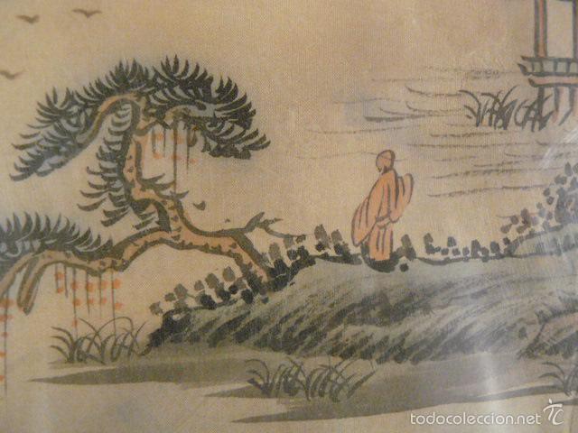 Arte: ACUARELA CHINA SOBRE PAPEL DE ARROZ - Foto 5 - 125019900