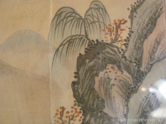 Arte: ACUARELA CHINA SOBRE PAPEL DE ARROZ - Foto 6 - 125019900