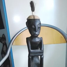 Arte: GRAN FIGURA FETICHE AFRICANA MADERA TALLADA 60 CMTRS.. Lote 174904835