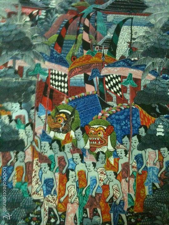 PINTURA SOBRE TELA,BALI INDONESIA (Arte - Étnico - Asia)