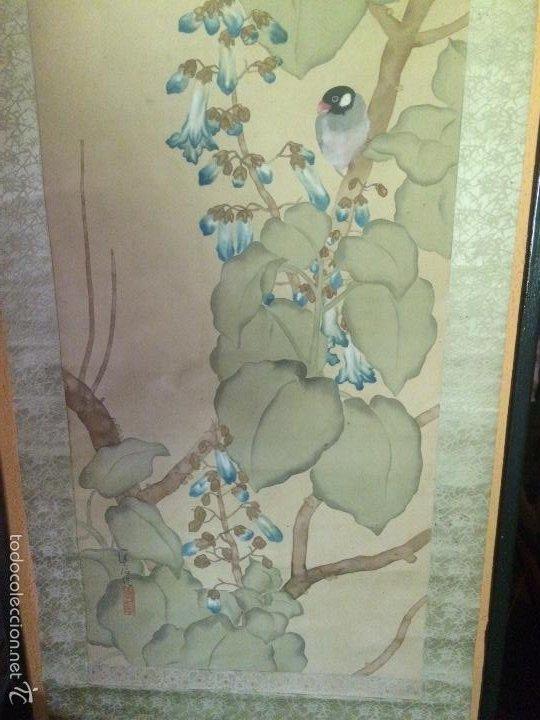 Arte: Papiro seda japonés muy antiguo - Foto 2 - 56954836