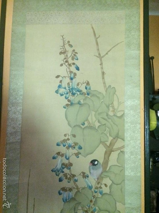 Arte: Papiro seda japonés muy antiguo - Foto 3 - 56954836