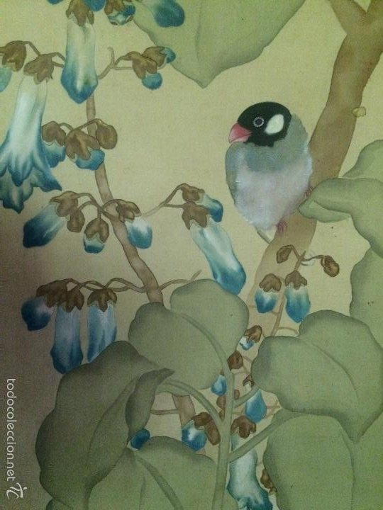 Arte: Papiro seda japonés muy antiguo - Foto 5 - 56954836