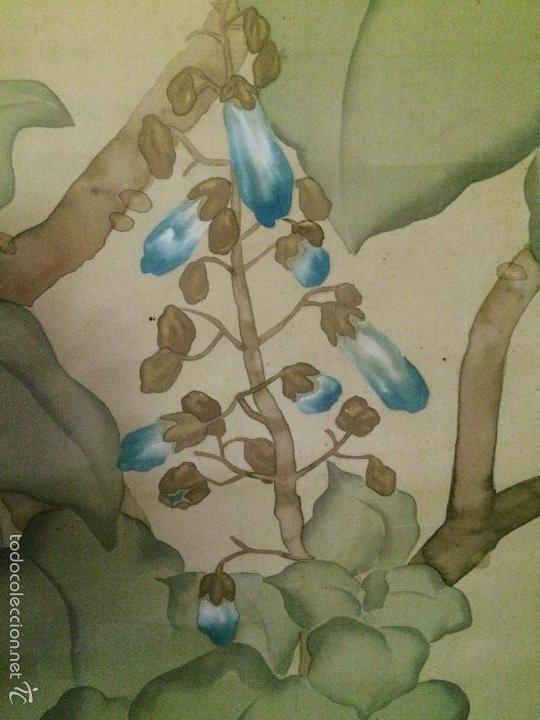 Arte: Papiro seda japonés muy antiguo - Foto 6 - 56954836