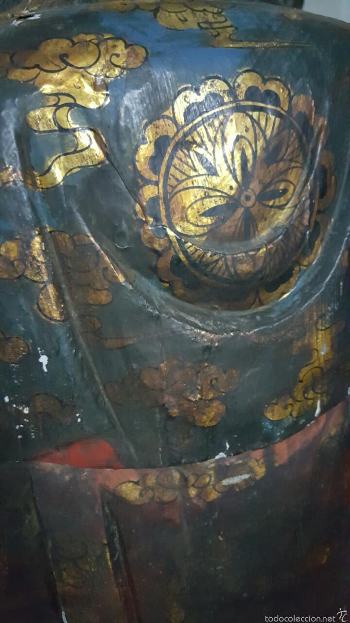 Arte: Enorme Figura budista de madera policromada 1.80m - Foto 11 - 122613567
