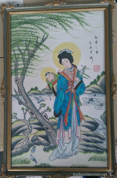 Arte: PINTURA CHINA SOBRE SEDA SELLADA - Foto 3 - 57410368