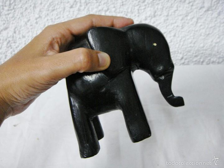 Arte: Elefante de Arte Tribal. Tallado a mano en madera. - Foto 5 - 57967783