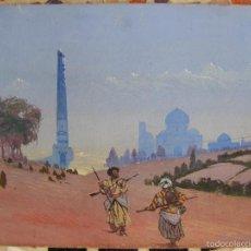 Arte: B.LITVINOV. PINTOR RUSO. TEMPERA .1935. BANDIDOS TURKOMANOS. SAMARKANDA O BUJARÁ. Lote 58321374