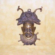 Arte: MASCARA DE BRONCE AFRICANA. Lote 58556357