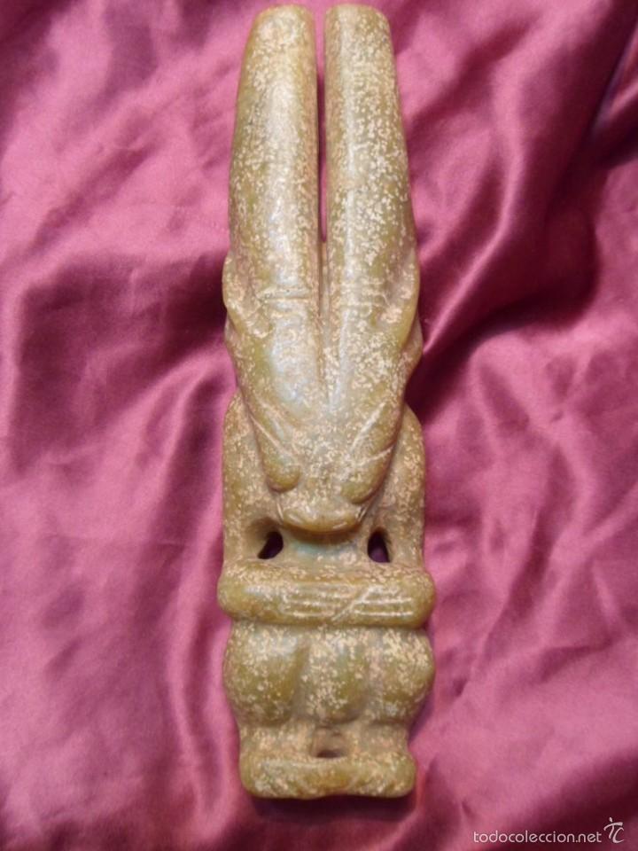 TALLA EN JADE. ARTE ANTIGUO.1,031 KGS. (Arte - Étnico - Asia)