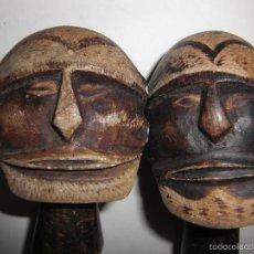 Arte: 2 IDOLOS DOMESTICOS AFRICANOS. PIEDRA TALLADA.. Lote 60439595