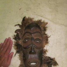 Arte: ANTIGUA MASCARA DE MADERA TALLADA AFRICANA, ORIGINAL, AFRICA. Lote 61276715