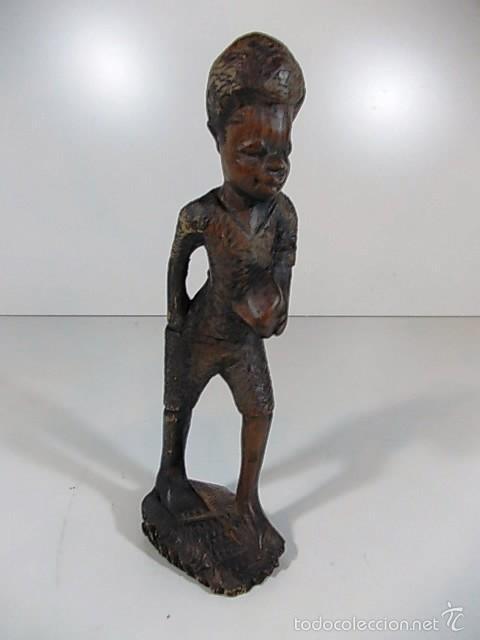 Arte: PRECIOSA TALLA EN MADERA AUSTRALIANA DE UN NIÑO - Foto 4 - 61314611