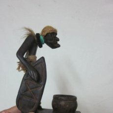 Arte: ANTIGUA ESCULTURA DE MADERA TALLADA AFRICANA, AFRICA. Lote 62040788